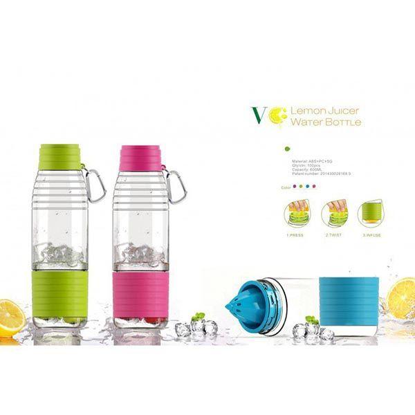 بطری آب تبلیغاتی و خلاقانه هور با آب میوه گیری